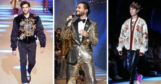 Guapos latinos conquistan la pasarela de Dolce & Gabbana en Milan