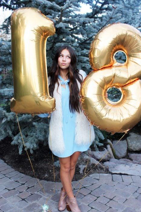 vestido azul cumpleaños
