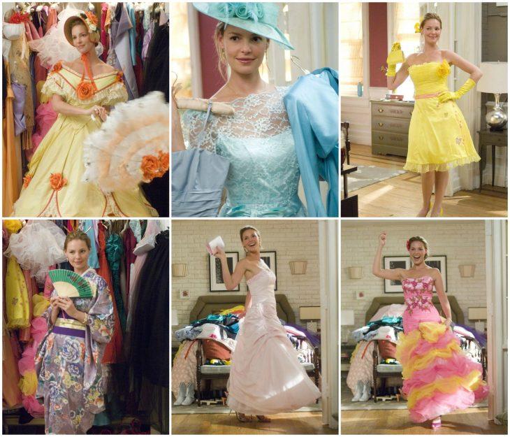chica con vestidos diferentes
