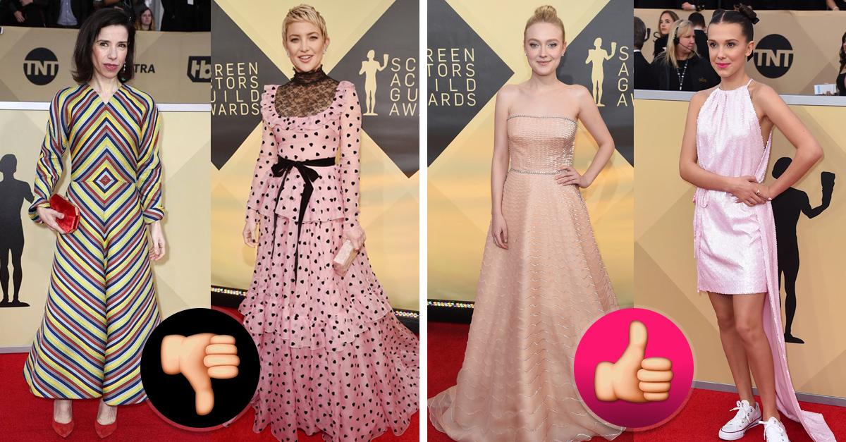 Las mejor y peor vestidas de la gala de los Screen Actors Awards 2018