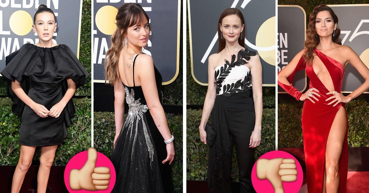 Los mejores y peores vestidos en la alfombra roja de los Golden Globes 2018