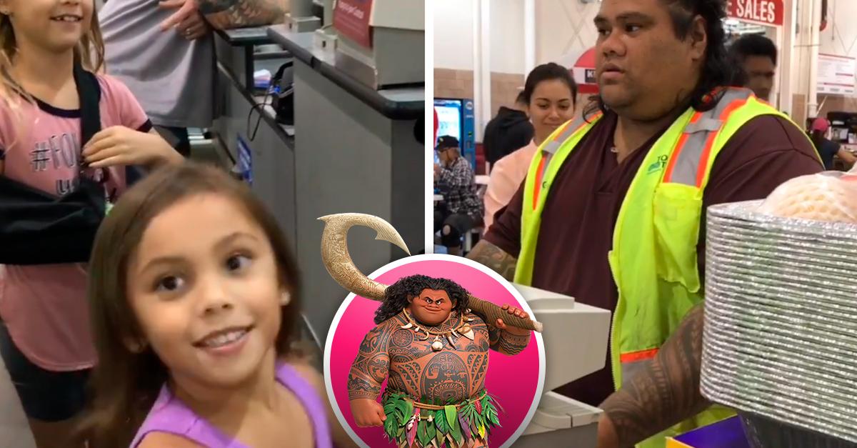 Unas hermanas confundieron al cajero de Costco con Maui de 'Moana' y su reacción es adorable
