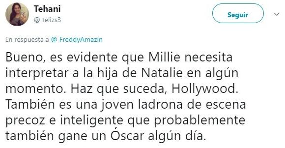 tuit de Natalie Portman