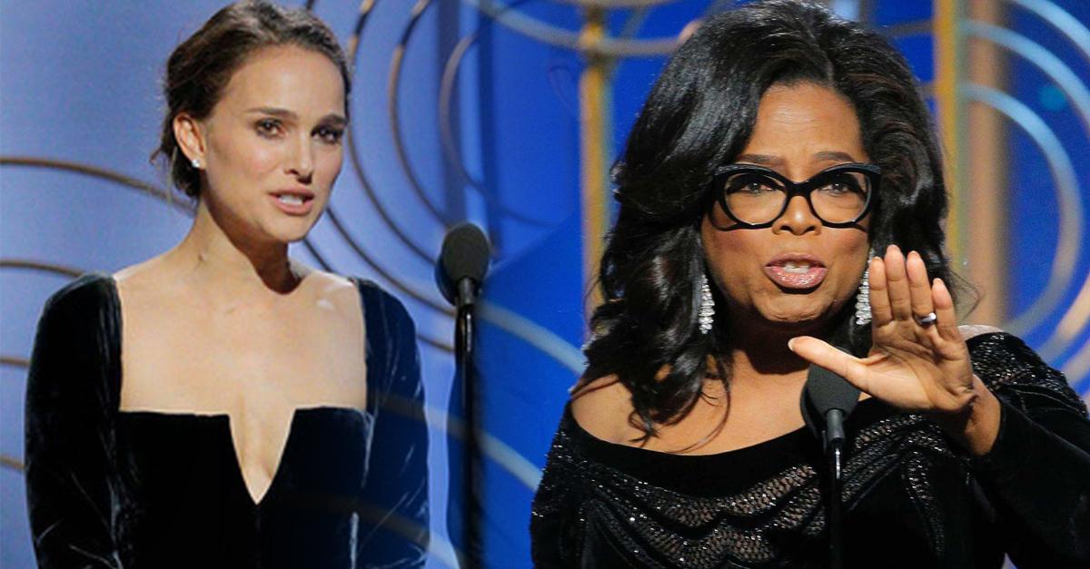 Natalie Portman y Oprah Winfrey fueron las reinas de la entrega de los Globos de Oro