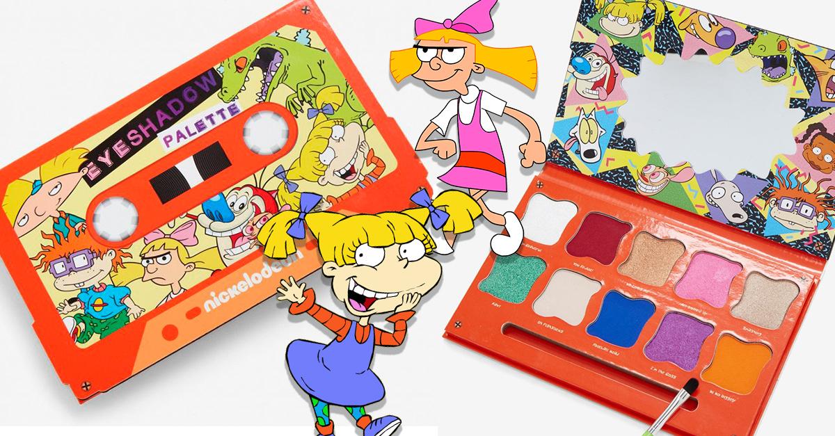 Nickelodeon ha creado una paleta de sombras que animará tu vida