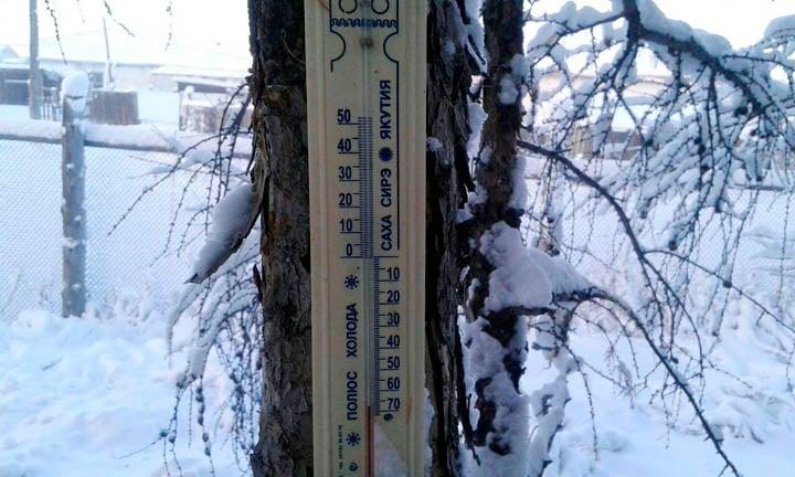 termómetro bajo cero