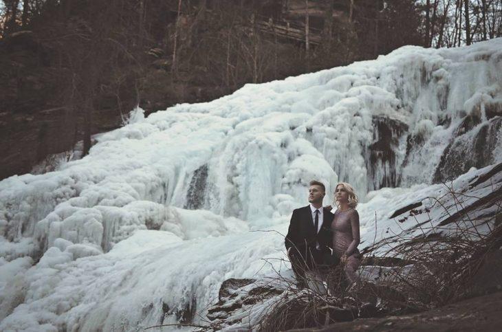 pareja en el hielo