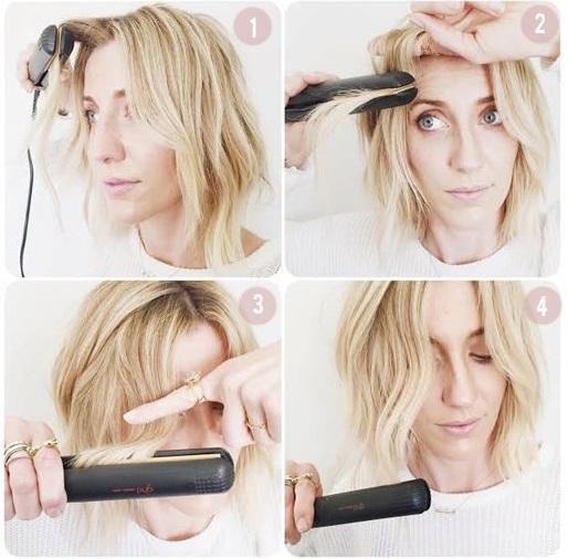 chica ondulando su cabello