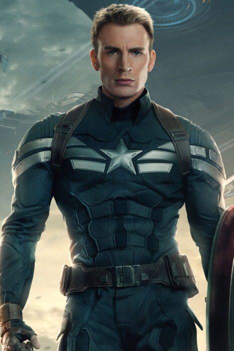 Chris Evans como el capitan america