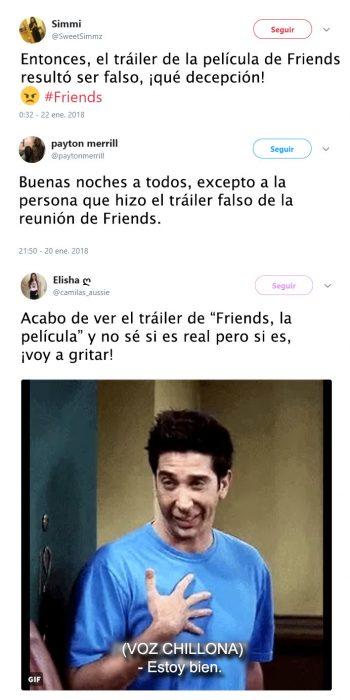 Tuits de decepcion por el trailer de friends