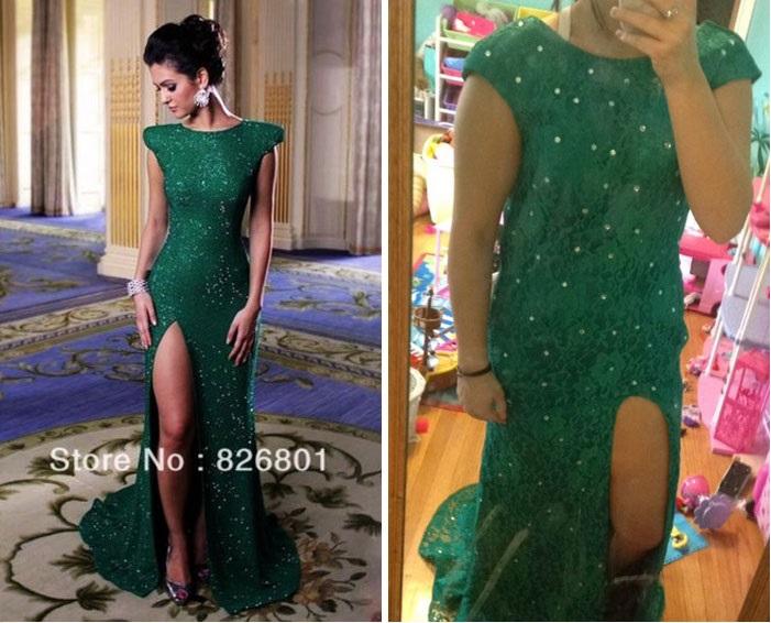 vestido en tono verde