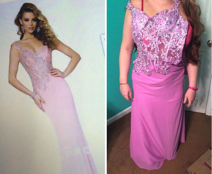 vestido en tono rosa