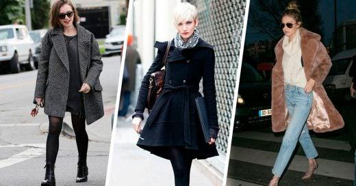 20 Outfits con abrigos para vestir turbo chic en invierno