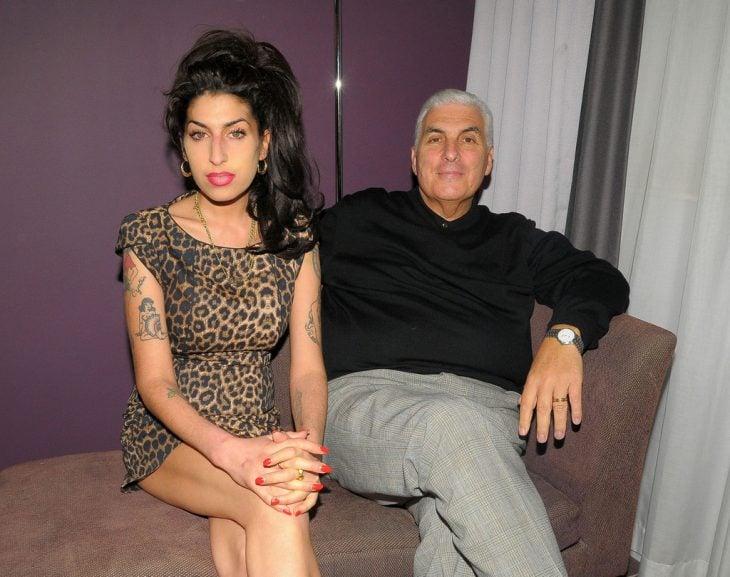 amy winehouse y su padre