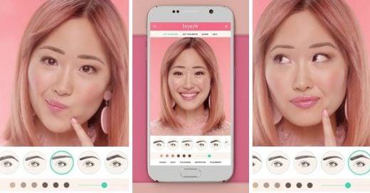 Esta app te permite crear tu propio diseño de cejas antes de cometer un error con las pinzas