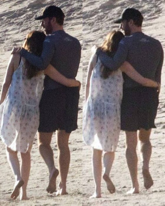 chris martin y dakota en la playa