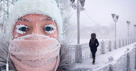 Este fotógrafo capturo las imágenes de la ciudad más fría del mundo; Los termómetros estallaron a -62°C