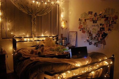 cuarto con luces