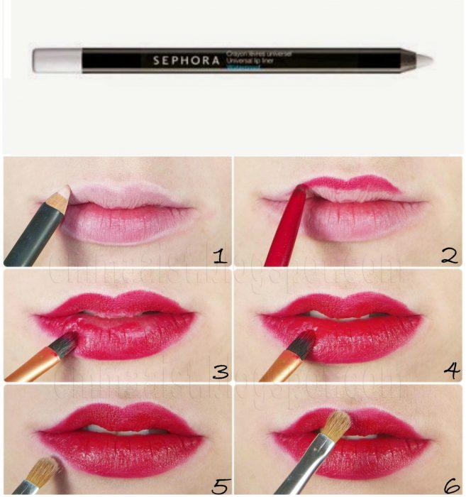 delineador trasparente de labios