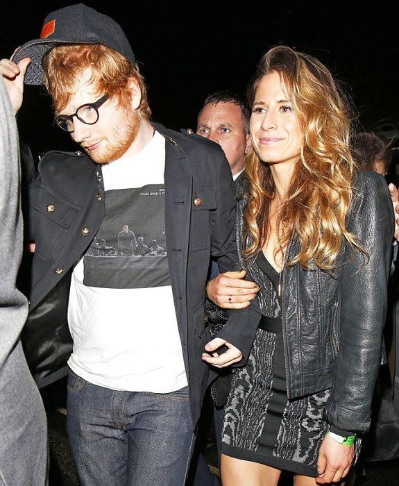 ed sheeran y su novia