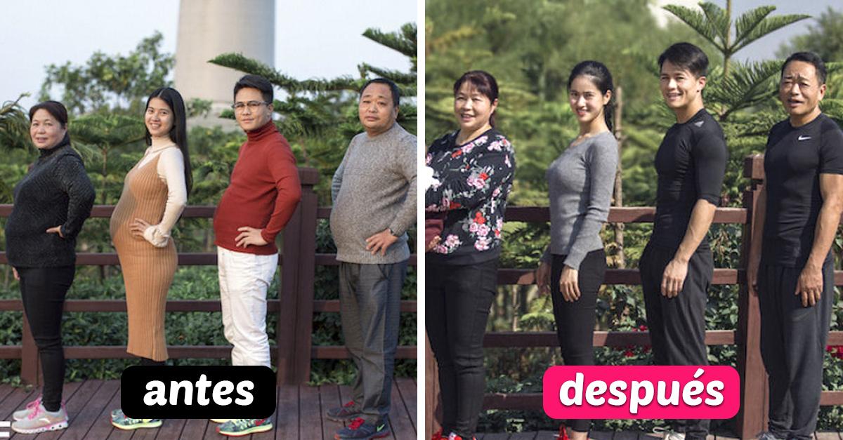 Esta familia pasó 6 meses haciendo ejercicio; ahora lucen como todos unos modelos