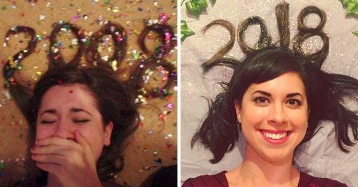 Esta chica se ha tomado la misma foto desde hace 10 años, aparentemente no ha cambiado nada