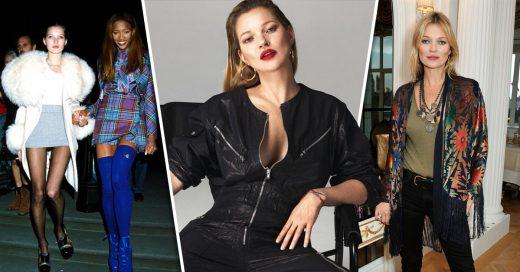 25 Looks que muestran la evolución de estilo de Kate Moss