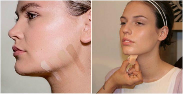 maquillaje de cuello