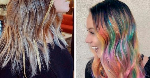 Glitterage, la nueva tendencia que hará brillar tu cabello