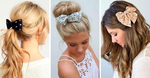 Maneras en las que puedes usar un moño en el cabello