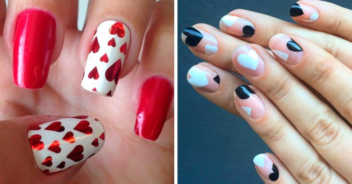 20 Hermosos diseños para uñas especiales para el día de San Valentin