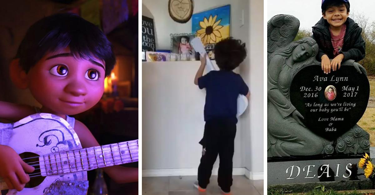 Este pequeño le hizo un homenaje a su difunta hermana con la canción de 'Coco'; Internet está conmovido
