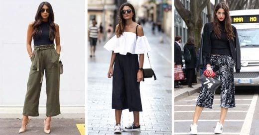 Moda a lo ancho: Maneras de usar pantalones anchos