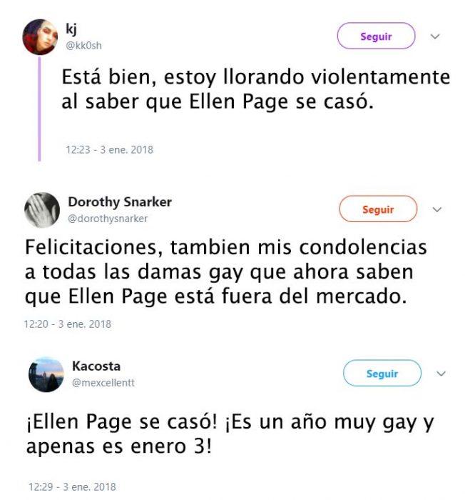 reacciones de tuiter del casamiento de ellen page