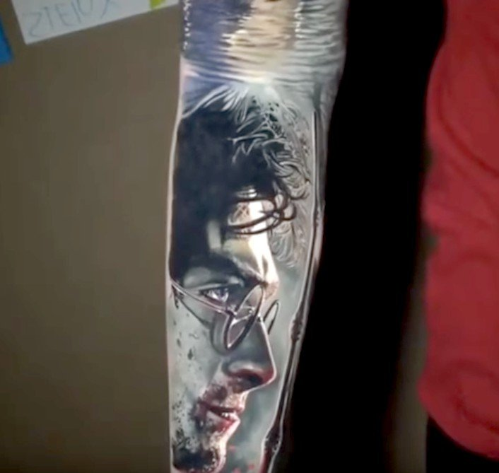 tatuaje mágico de harry potter