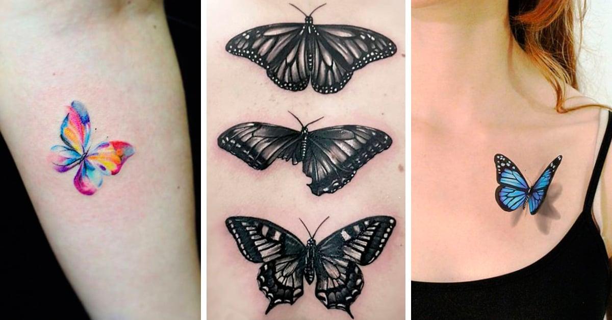 25 Tatuajes de mariposas que te harán lucir súper chic