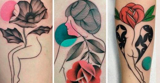 Los tatuajes que combinan nuestro vinculo con la naturaleza