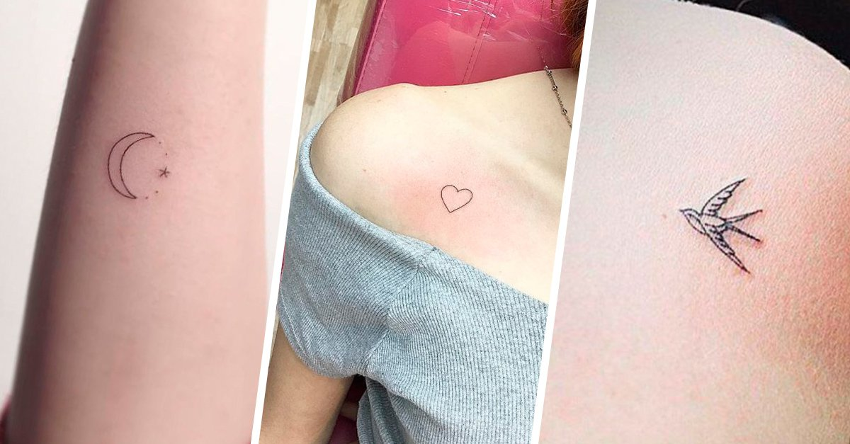 Diseños de tatuajes muy discretos para las chicas que aman la delicadeza