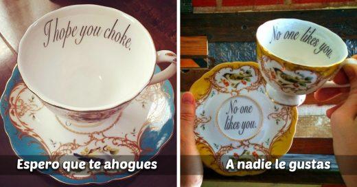 Delicados pero ofensivos diseños de taza para insultar a tus invitados; no dejaras de reir