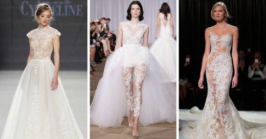 15 Vestidos de novia con diseño naked que te harán amarlos u odiarlos