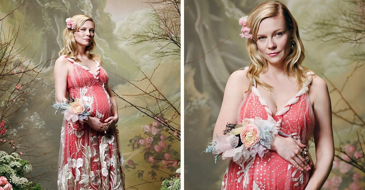 ¡Kirsten Dunst celebra su primer embarazo! La actriz presume su vientre en campaña de moda