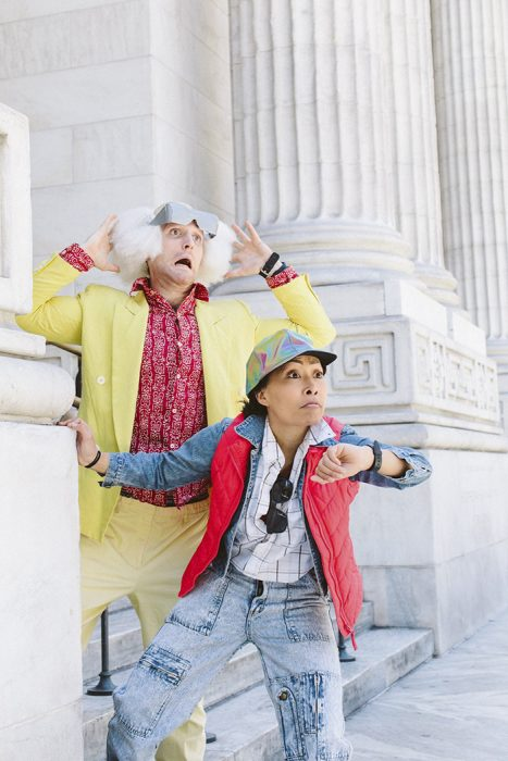 "Marty McFly and Doc Brown from ""Back To The Future"""