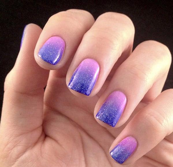 degradado en violeta a rosa