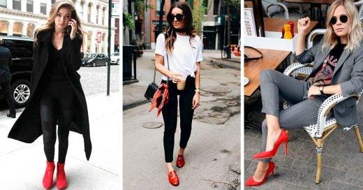 15 Estilos de zapatos rojos que le darán sensualidad a tus outfits