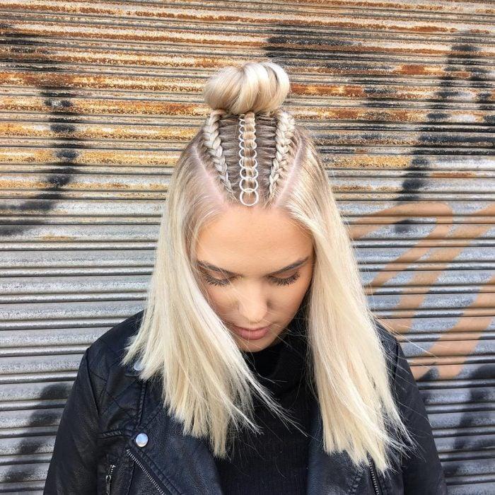 Accesorio para el cabello en forma de anillos