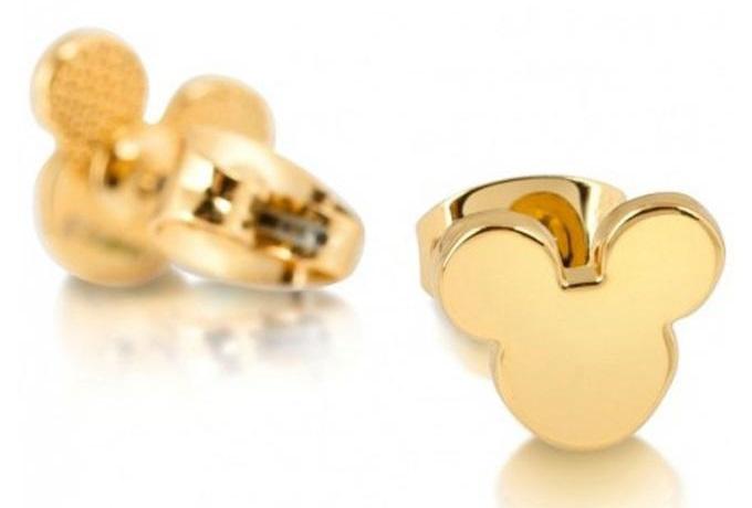 Juego de anillos de color dorado de Mickey Mouse
