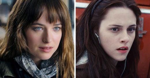 Así de parecidos son los personajes de Crepúsculo y 50 Sombras de Grey