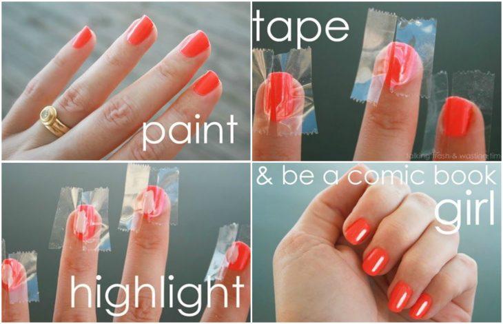 tutorial para uñas naranjas