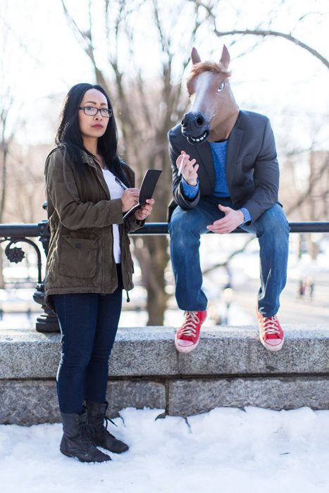 "BoJack Horseman and Diane Nguyen from ""BoJack Horseman"" chicos sesion de compromiso pareja cosplay actores"
