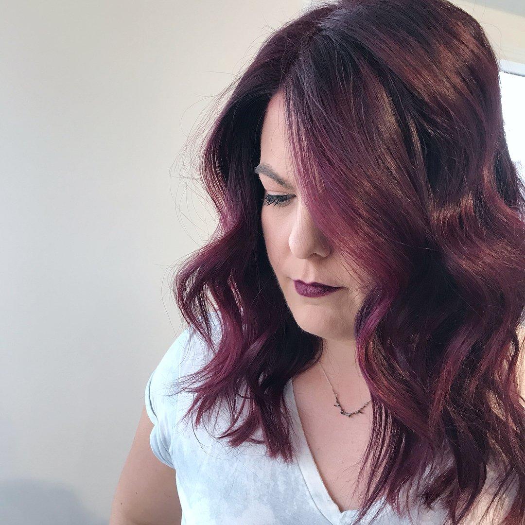 Tinte para el cabello color vino